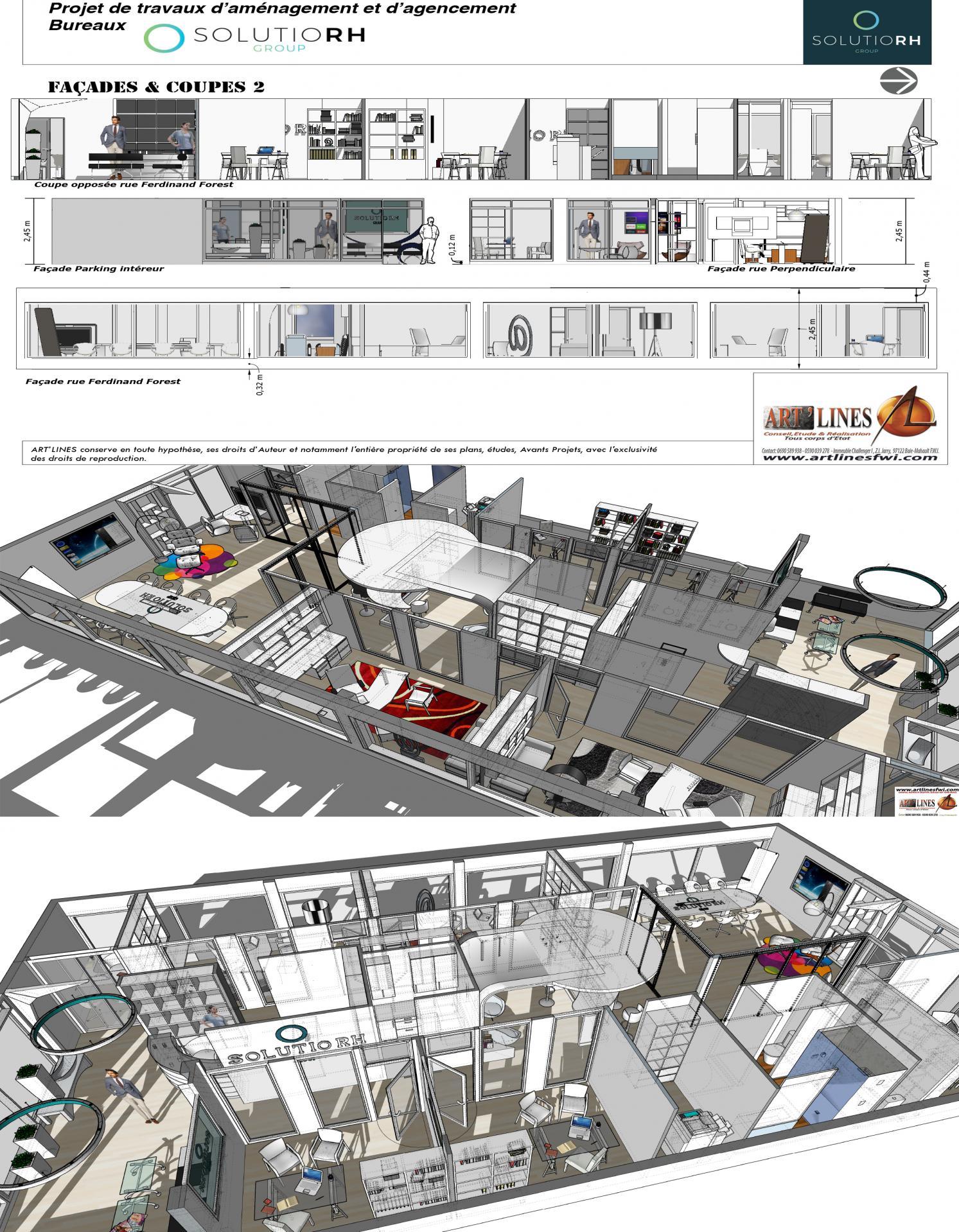 Conception bureaux.