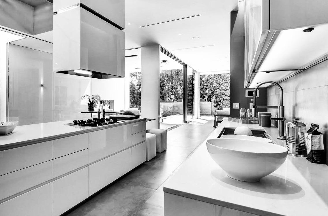 Cuisine design blanche moderne